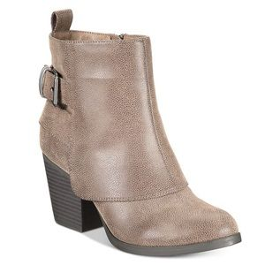 American Rag cuffed buckle ankle booties